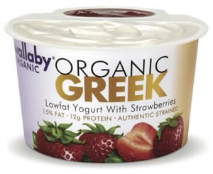 Wallaby Strawberry Organic Greek Yogurt -