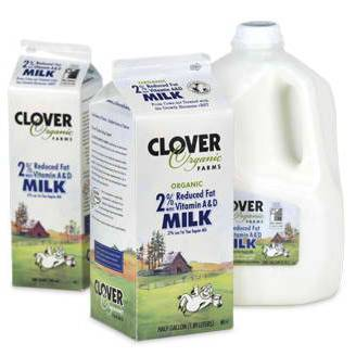 Clover Organic 2% Reduced Fat Milk 1/2 gal