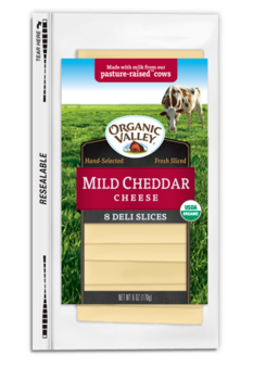 Organic Valley Organic Mild Cheddar Cheese Slices 6oz