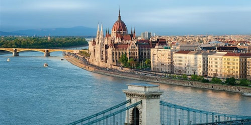 Budapest Parliament along the Danube