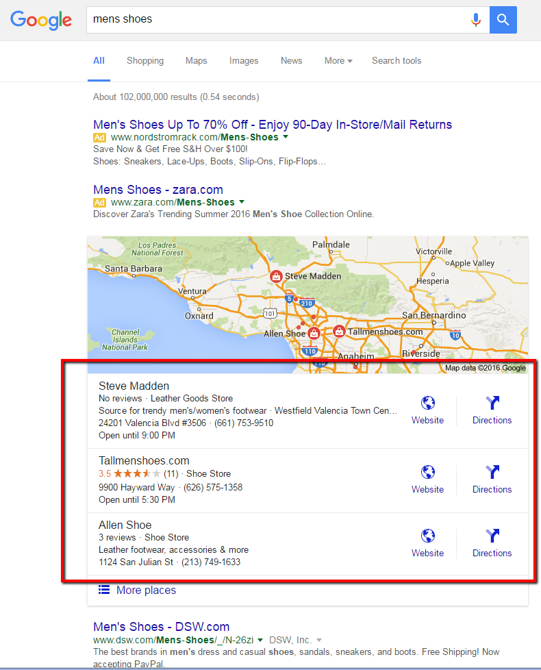 location structured data and schema markup