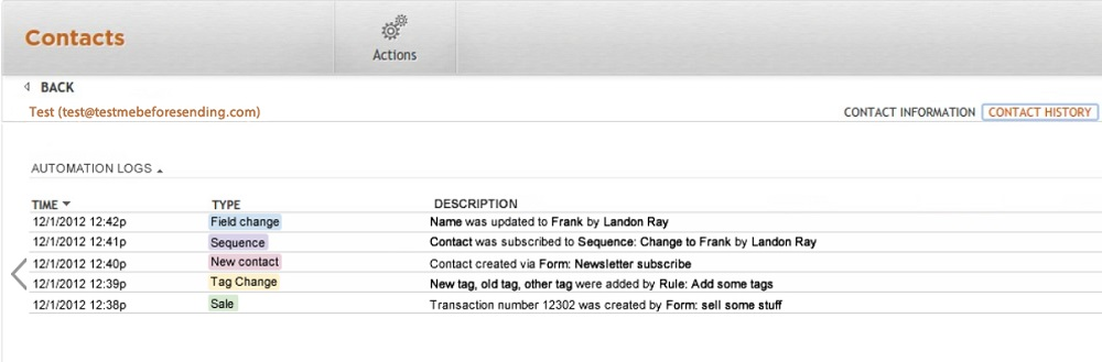 New from Ontraport: Automation Log | Ontraport CRM