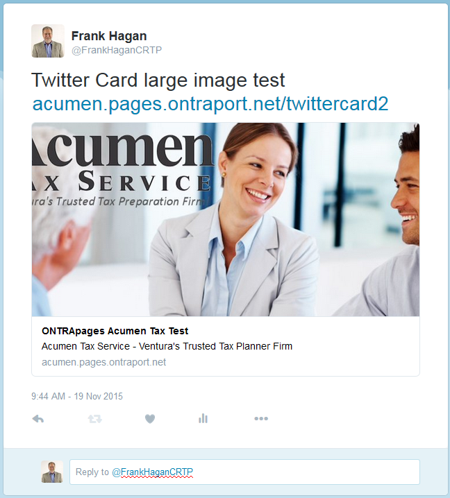 How To Set Up Twitter Cards In ONTRApages