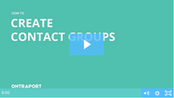 Creating Contact Groups