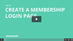 Create a membership login page