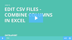 Combine columns in Excel