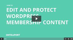 Edit and Protect WordPress Membership Content