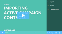 Import Active Campaign contacts