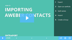 Import Aweber Contacts