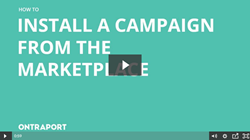 Install a Campaign from the Marketplace