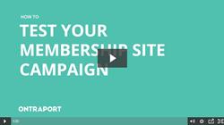 Test Membership Site Campaign