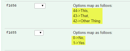 multi-option fields