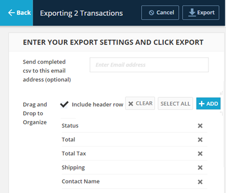 export transactions