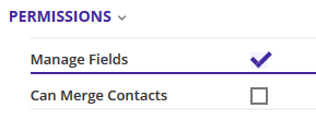 Manage fields permission in the Role Permissions screen