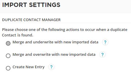 duplicate manager settings