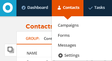 contacts in sidebar