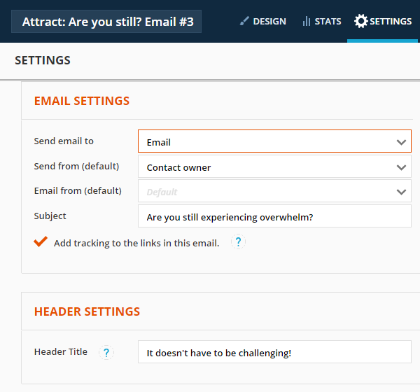 Add UTM tracking parameters to all links in the email automatically by checking this check box