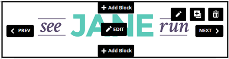 Hover Over Block to Edit