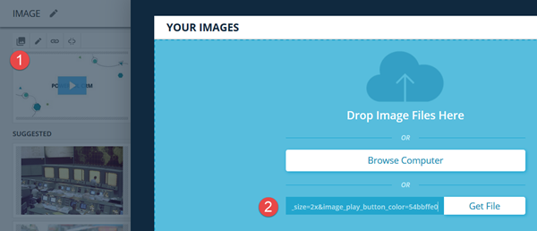 Use Wistia URL to upload image