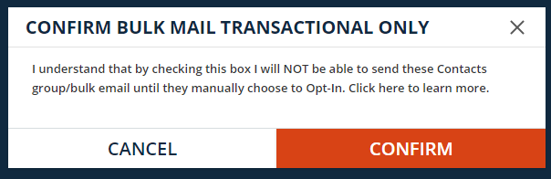 opt out warning