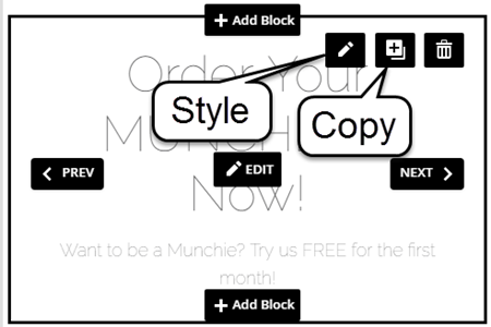 Style or Copy Block Icons