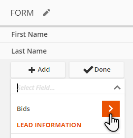 drill into the other object's fields when making forms