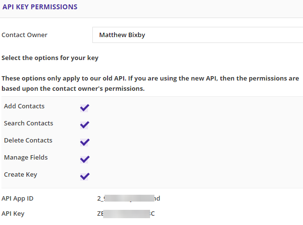 api permissions for AccessAlly