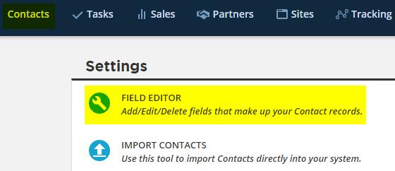 Enter new custom field