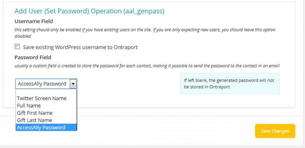 Access Ally Password
