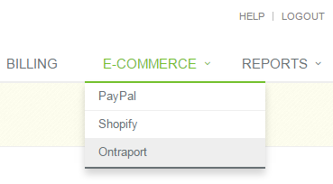 ecommerce ONTRAPORT option