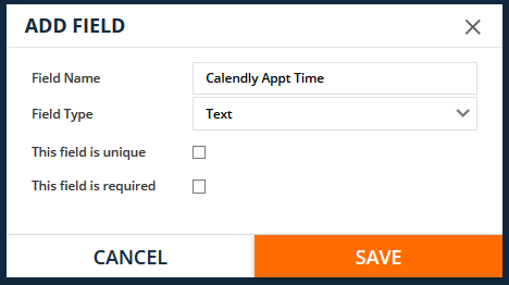 Calendly custom text field for the time in ONTRAPORT