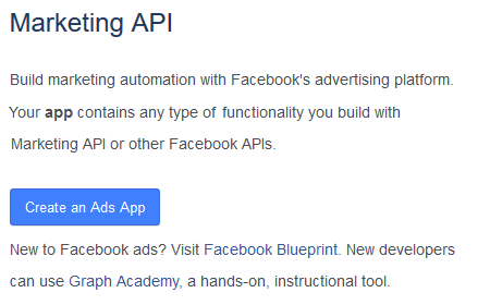 Create a marketing API app