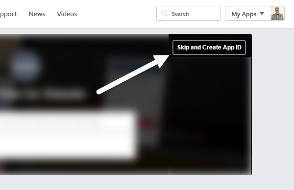 skip and create app id