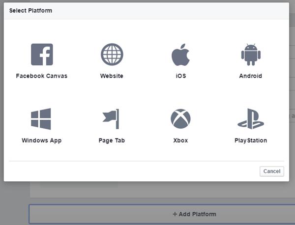 add platform dialog box