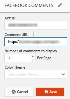 configure the ONTRApages comment block