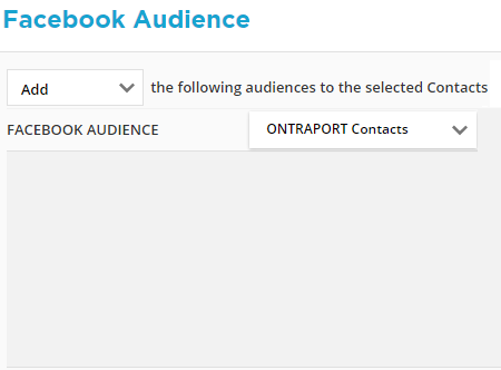 Add Contacts to Custom Audience