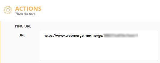WebMerge URL into URL field