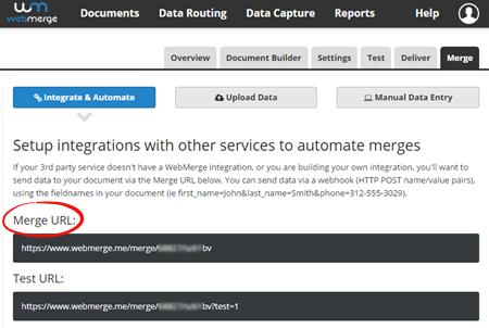 WebMerge Merge URL