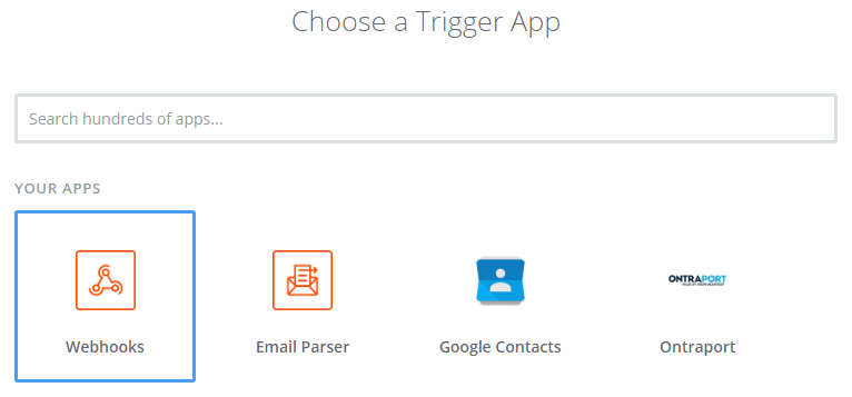 Use the Webhook Trigger in Zapier