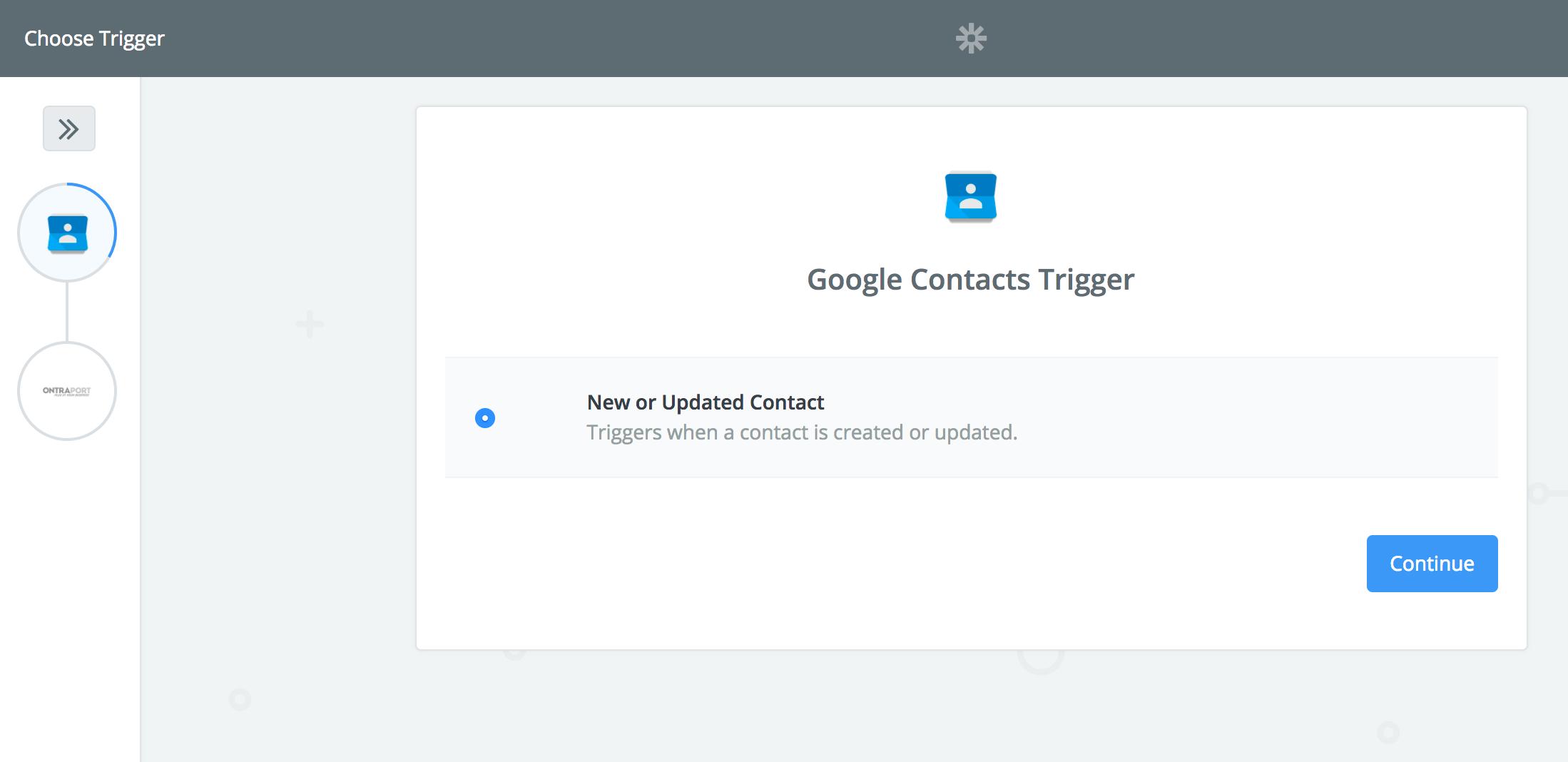 Google Contacts Trigger