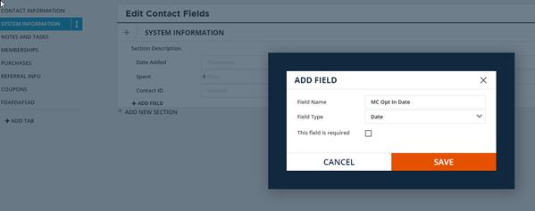 Configure field