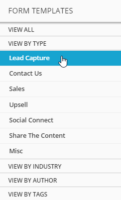lead capture ONTRAform templates