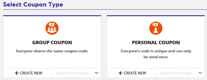 Coupon codes knowledge base ontraport personal coupons are single use coupon codes generated by ontraport that are restricted to a specific contact these codes can be delivered via email fandeluxe Choice Image