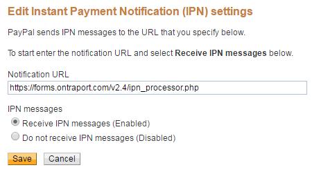 IPN settings