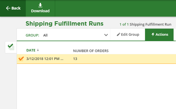 download any save fulfillment runs to obtain a copy of all packing slips included in that run