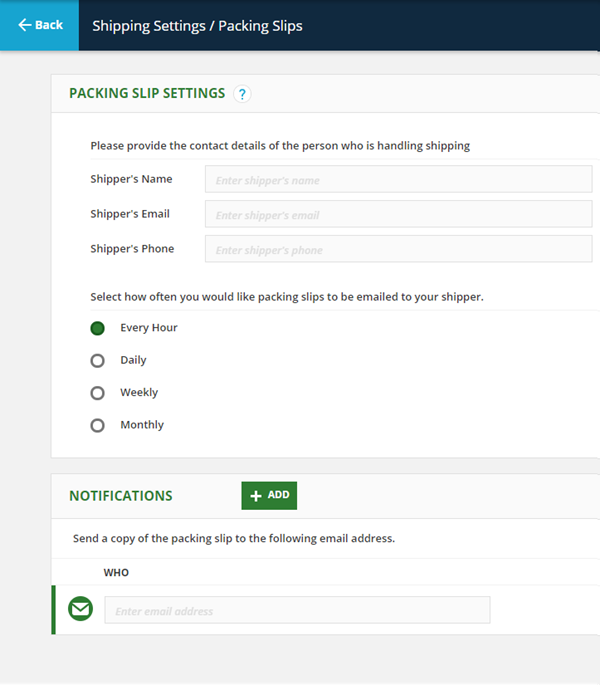 Shipping Manager Settings Knowledge Base – Packing Slips for Shipping