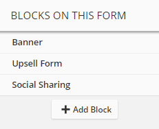 Upsell Form Block in Palette