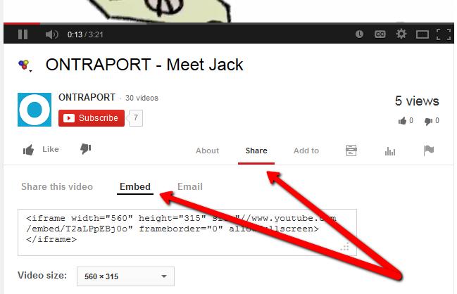 embed youtube