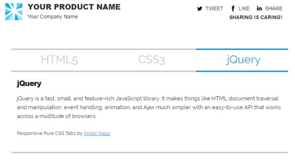 Tabbed interface in Custom HTML Block