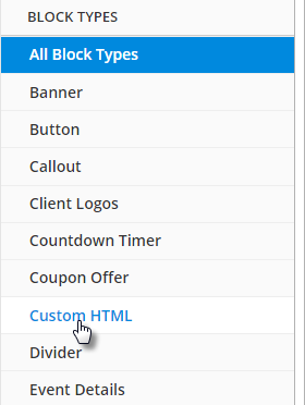 add Custom HTML block